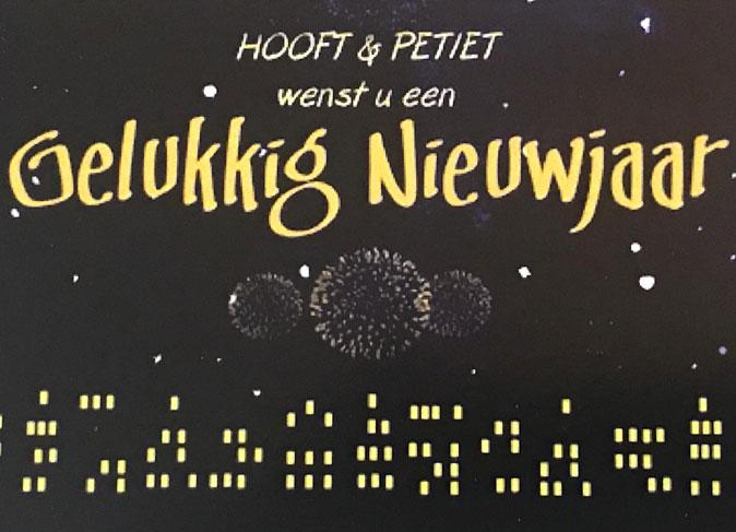Hooft en Petiet gelukkig nieuwjaar
